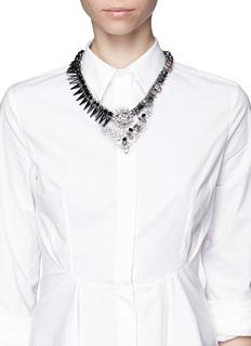 ASSAD MOUNSERGlass spike rhinestone necklace