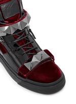 'London' stud velvet sneakers