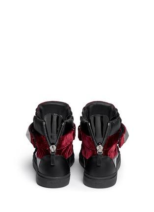 Back View - Click To Enlarge - Giuseppe Zanotti Design - 'London' stud velvet sneakers