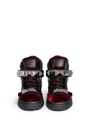 Figure View - Click To Enlarge - Giuseppe Zanotti Design - 'London' stud velvet sneakers