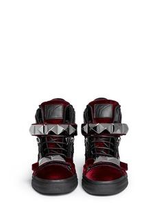 GIUSEPPE ZANOTTI DESIGN'London' stud velvet sneakers