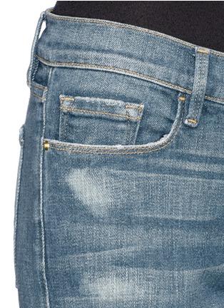 细节 - 点击放大 - FRAME DENIM - Le Garçon水洗破洞牛仔裤