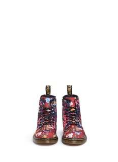 Dr. Martens 'Brooklee FC' floral print canvas toddler boots