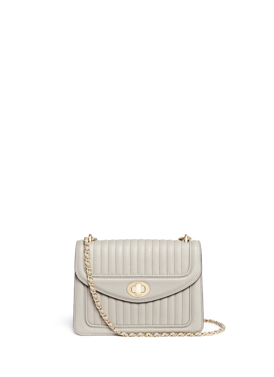 Ginette PM quilted leather crossbody bag by Reflections Copenhagen