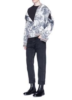Maison MargielaJungle print detachable sleeve silk-cotton jacket