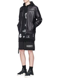 Marcelo Burlon'Paco' number print jacket