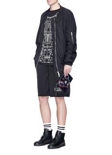 Marcelo Burlon'Rufo' panther print leather zip pouch