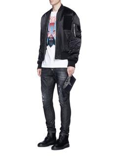 Marcelo Burlon'Asier' eagle print leather zip pouch