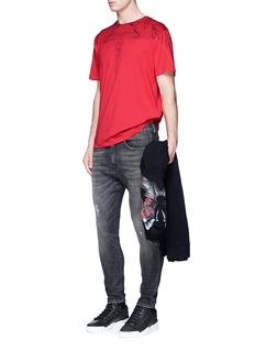 Marcelo Burlon'Rufio' eagle sketch cotton T-shirt