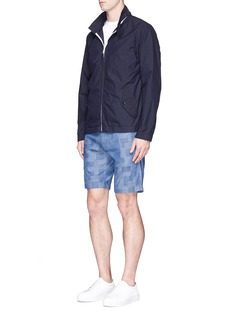 Alex Mill Patchwork cotton dobby shorts
