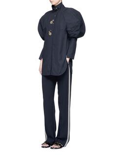 Ellery'Un Chat' oversized bubble sleeve blouse