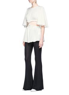 Ellery'Apocalyptic' cutout waist satin crepe top