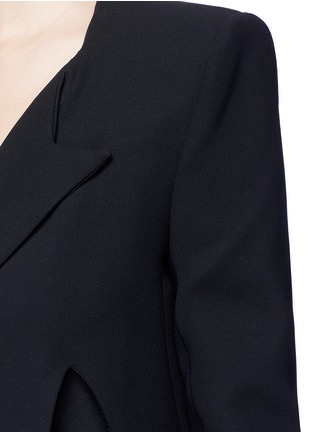 Detail View - Click To Enlarge - Miss Maticevski - 'Neo' peaked hem suiting blazer