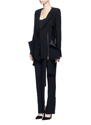 Figure View - Click To Enlarge - Miss Maticevski - 'Neo' peaked hem suiting blazer