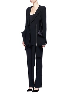 Maticevski'Neo' peaked hem suiting blazer