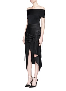 Maticevski 'Ability' zip pocket panel asymmetric pencil skirt