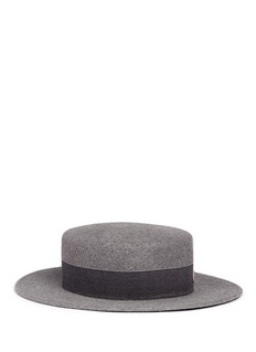 Maison Michel 'Kiki' rabbit furfelt boater hat
