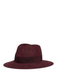 Maison Michel'Henrietta' rabbit furfelt fedora hat