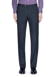 Canali Regular fit houndstooth cotton flannel chinos