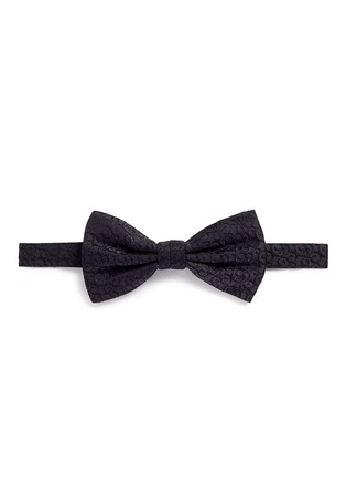 Canali-Curlicue jacquard bow tie