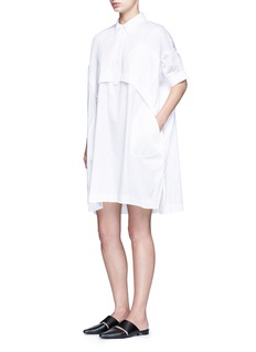 Opening Ceremony Oversize sateen panelled shirt dress