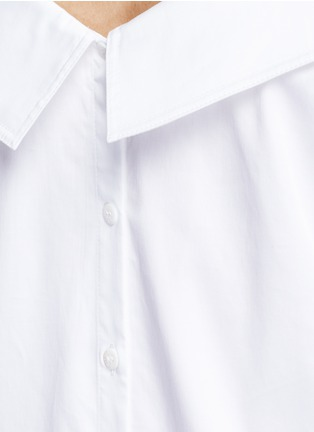 Detail View - Click To Enlarge - Opening Ceremony - Wide collar oversize sateen shirt dress
