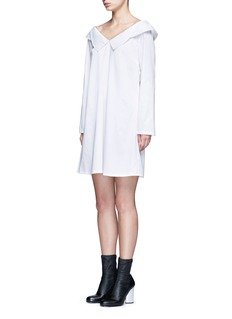 Opening Ceremony Wide collar oversize sateen shirt dress