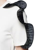 Organza ruffle shoulder T-shirt dress