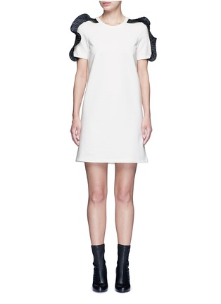 Main View - Click To Enlarge - Opening Ceremony - Organza ruffle shoulder T-shirt dress