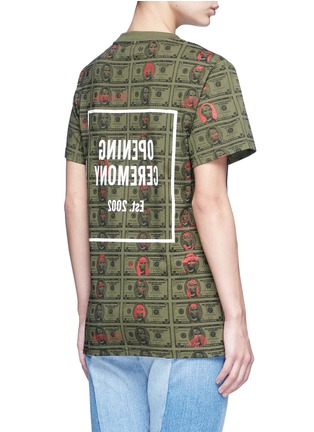 Back View - Click To Enlarge - Opening Ceremony - 'Money' print logo cotton T-shirt