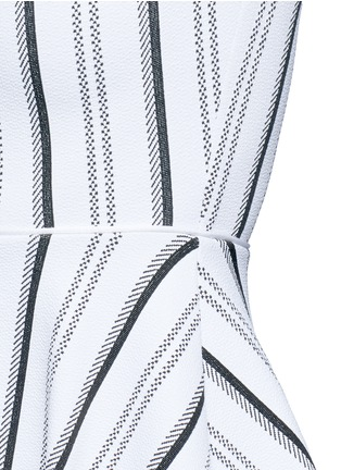 Detail View - Click To Enlarge - Opening Ceremony - Stripe jacquard skater dress