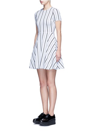 Front View - Click To Enlarge - Opening Ceremony - Stripe jacquard skater dress