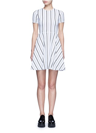 Main View - Click To Enlarge - Opening Ceremony - Stripe jacquard skater dress