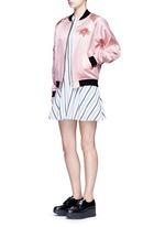 Stripe jacquard skater dress