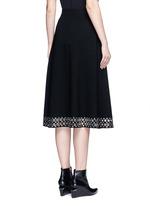 Grommet border high waist skirt