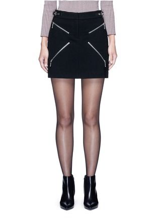 Alexander Wang  - Leather adjuster zip skirt
