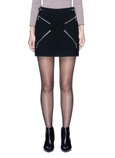 Alexander Wang  Leather adjuster zip skirt