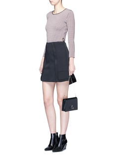 Alexander Wang  Quilted edge peplum skirt