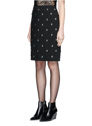 Front View - Click To Enlarge - Alexander Wang  - Ball stud high waist pencil skirt