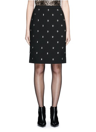 Main View - Click To Enlarge - Alexander Wang  - Ball stud high waist pencil skirt
