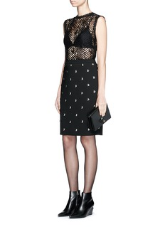 Alexander Wang  Ball stud high waist pencil skirt