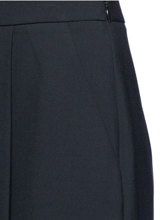 Detail View - Click To Enlarge - Alexander Wang  - Pleated front cropped wool blend pants