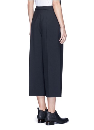 Back View - Click To Enlarge - Alexander Wang  - Pleated front cropped wool blend pants