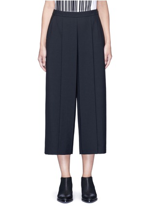 Main View - Click To Enlarge - Alexander Wang  - Pleated front cropped wool blend pants