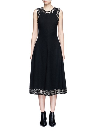 Main View - Click To Enlarge - Alexander Wang  - Grommet border A-line dress