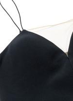 Mesh V-neck spaghetti strap dress