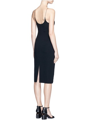 Back View - Click To Enlarge - Alexander Wang  - Mesh V-neck spaghetti strap dress