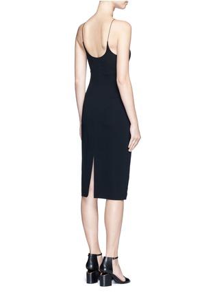 Alexander Wang -Mesh V-neck spaghetti strap dress