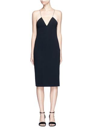 Main View - Click To Enlarge - Alexander Wang  - Mesh V-neck spaghetti strap dress