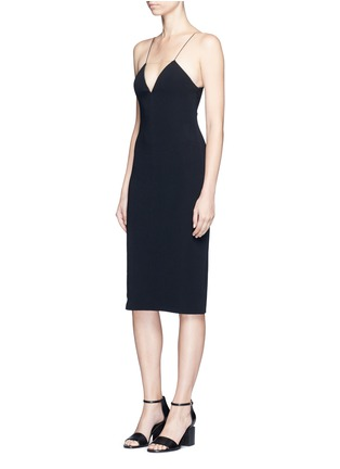 Figure View - Click To Enlarge - Alexander Wang  - Mesh V-neck spaghetti strap dress